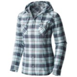 Mountain Hardwear Stretchstone Flannel Hooded Long Sleeve Shirt - Wo