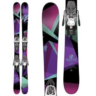 K2 Remedy 75 Jr. Skis with Marker 7.0 Bindings - Yout