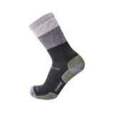 Point6 Hiking Block Stripe Medium Crew Socks - Unisex