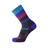 Point6 Hiking Mixed Stripe Medium Crew Socks - Unisex