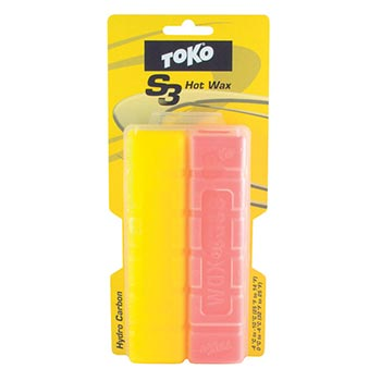 Toko S3 HydroCarbon Hot Wax Set - Yellow-Red