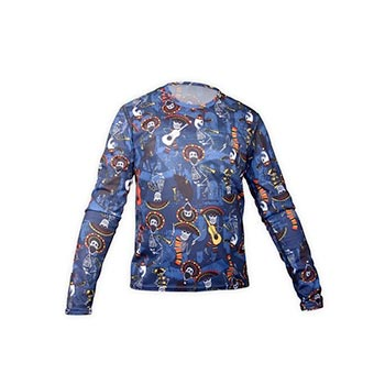 Hot Chillys Pepper Skins Print Crewneck Top - Youth