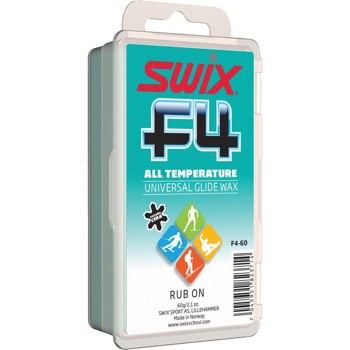 Swix F4 Universal Rub On Glide Wax with Cork - 60g