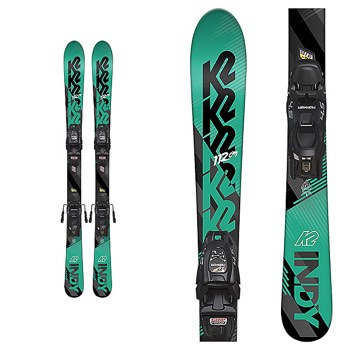 K2 Indy Skis with FDT Jr. 4.5 Bindings - Youth